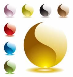 gel marbles vector image vector image