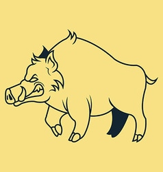 Hogs Line Art vector image vector image