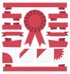 ribbon decorations vector image