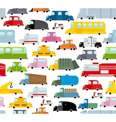 Car seamless pattern Background of transport in vector image vector image