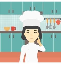 Chief cooker having idea vector image vector image