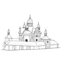 church on the white background vector image
