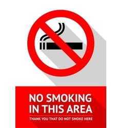 No smoking sticker flat design vector image vector image