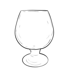 sketch of glass vector image vector image