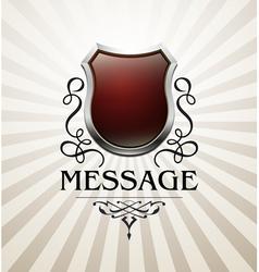 Vintage heraldry emblem6 vector image vector image