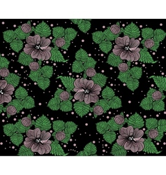 Background pattern from violet flowers on the vector image vector image