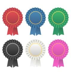rosette award ribbon medallion vector image