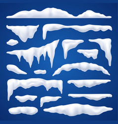 snow capes and piles winter set vector image vector image