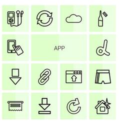 14 app icons vector