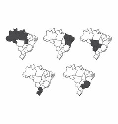 a set of brazil maps vector image