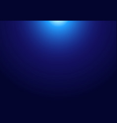 Abstract dark blue background with light from vector