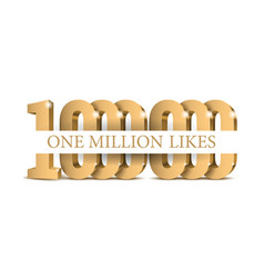 anniversary or event 1000000 gold 3d numbers vector image
