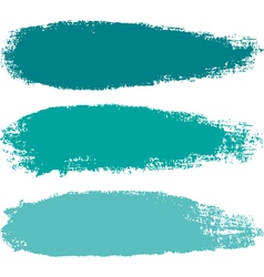 Aquamarine paintbrush strokes vector image