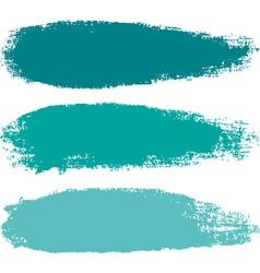 Aquamarine paintbrush strokes vector