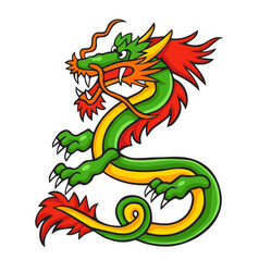 asian dragon vector image