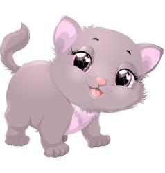 beautiful gray kitten vector image