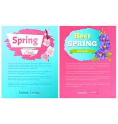 Best spring big sale advertisement labels crocus vector