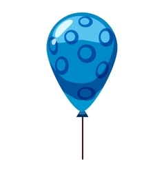 Blue balloon icon isometric 3d style vector