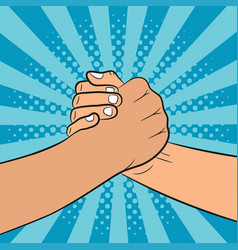 brotherly handshake vector image