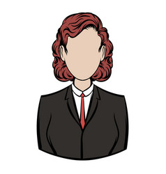 business woman icon cartoon vector image
