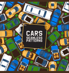 cars seamless pattern car vector image