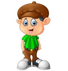 Cartoon boy wearing a hat vector