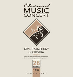 Classical concert poster vector