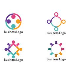 Community social network symbols logo template vector