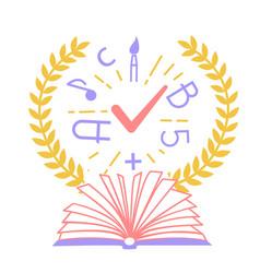 concept of education schools vector image