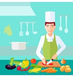 Cooking Flat Color Concept vector