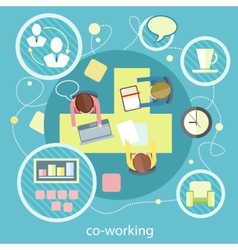 Coworking concept Business meeting vector