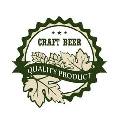 Craft beer design label for a Premium Product vector image
