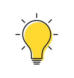 creative idea and solution concept electric lamp vector image