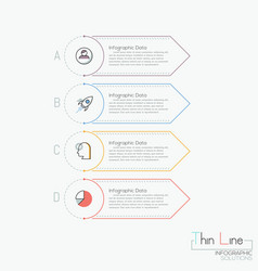 Creative infographic design template 4 vector