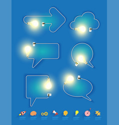 creative light bulb idea in shape speech vector image