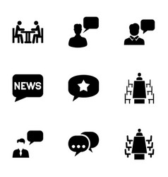 discussion icons vector image