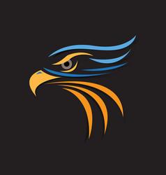 Eagle head sport mascot vector