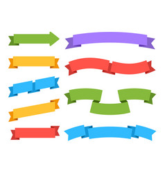 empty ribbons colorful label price banners vector image
