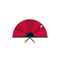 fan accessory culture traditional japan icon vector image