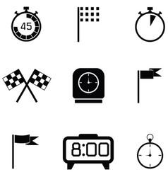 finish icon set vector image