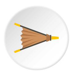 Fire bellows icon circle vector