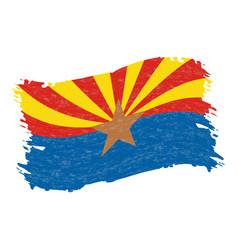 flag of arizona grunge abstract brush stroke vector image