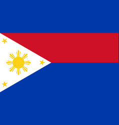 Flag of republic of philippines in wartime vector