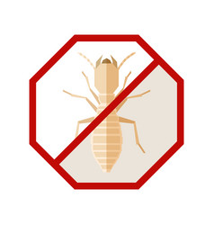 flat geometric sign with termite vector image