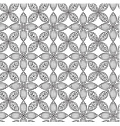 Floral seamless pattern linear ornament abstract vector