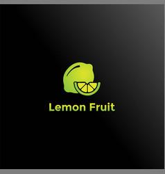 Fresh lemon lime orange fruit logo design vector