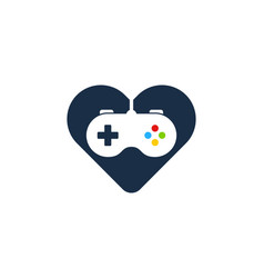 Game love logo icon design vector