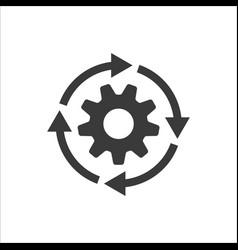 gear workflow progress icon vector image