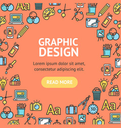 graphic design signs round design template line vector image