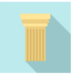greek column icon flat style vector image